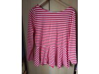 Ladies Red Striped Top