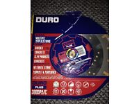Diamond tipped disc cutter blade,brand new in box.never used