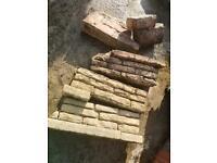 Free reclaimed Bradstone old walling/wall Yellowstone Reclaimed bricks & Red Bricks Walling