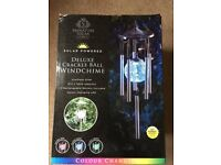( New and Sealed ) Signature Solar Deluxe Crackle Ball Windchime