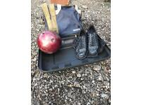 Bowling Ball, Shoes & Bag