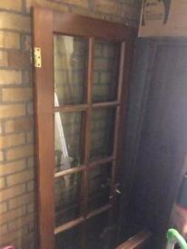 Interior French doors- glass and wood doors