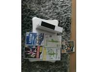 Wii console & games & balance board