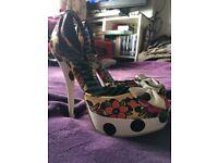Iron Fist Cheetah print heels