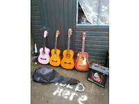 4 🎸 guitars.rosetti harmony.and working amplifier and case