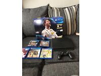 PS4 slim 500gb with 5 games!! 2 months old