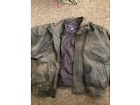 LLD XL real leather jacket. Brown.
