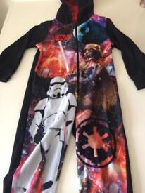 Star Wars onsie and darth Vader dressing gown 4-5