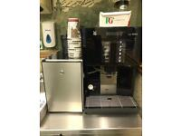Wmf 1200s bean to cup coffee machine with a fridge