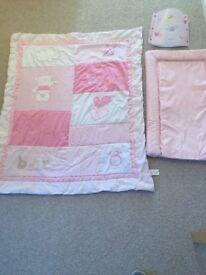 Baby girls nursery accessories