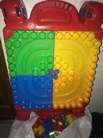 Lego table and Lego (mega blocks)