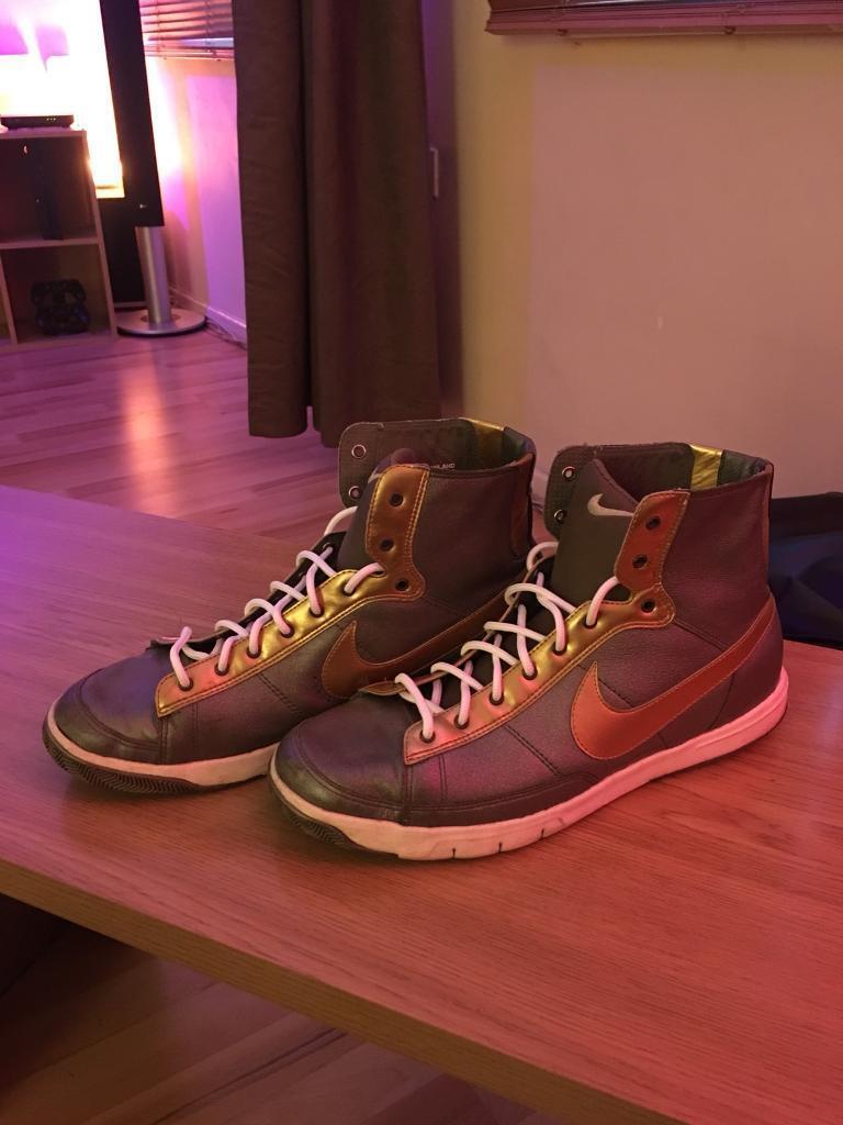 Nike Blazer Prem Hi - Gold/Graphite - Size 8