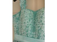 Beautiful bridesmaid dresses, pale mint green.