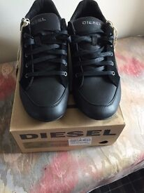 Diesel Leather Trainers (NEW) for sale