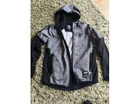 Boys Sonneti hoodie top black grey age 10-12