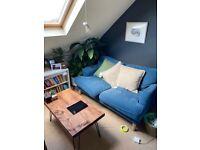 Ikea Two-Seater Sofa (Stocksund Blue)