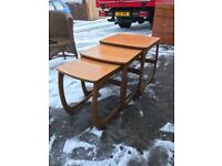 Nathan retro teak nest of tables
