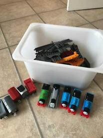 Track master with 5 trains