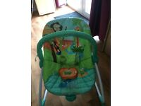 Vibrating baby bouncy chair