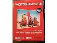 You frame photos to canvas