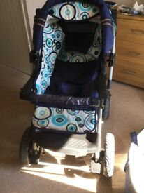 LUX4KIDS 3in 1 pushchair, pram, car seat. Excellent condition