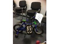 blue boys bikes and helmet £25 each