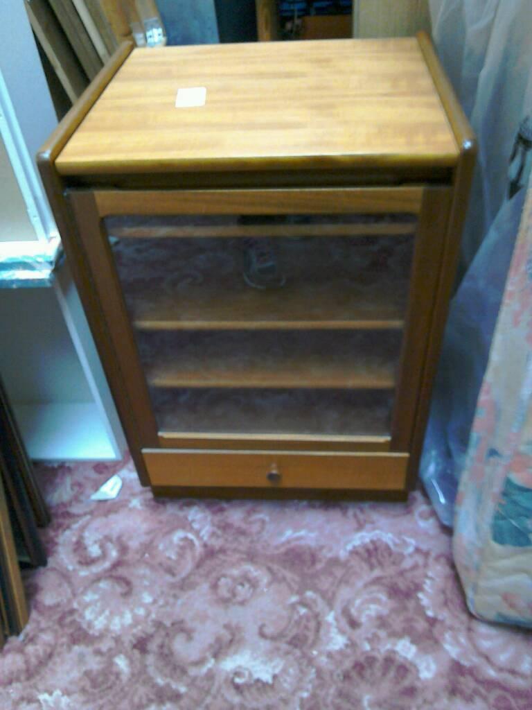 Teak small cabinet #30032 £30