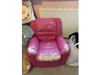 Kids leather chair