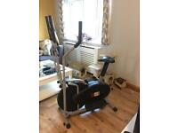 2 in 1 elliptical cross trainer/exercise bike