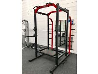 Bodymax CF875 heavy duty commercial power rack with dip bar and plyo platform