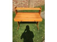 Solid Teak Wood Desk - Excellent Condition