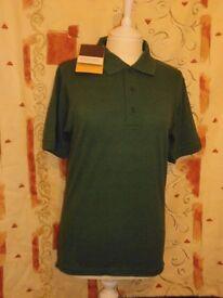 Regatta Professional Short Sleeve Polo Shirt, Bottle Green – Size: XS