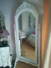 French cheval white mirror full length bedroom