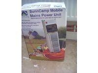Sunncamp mobile mains power unit