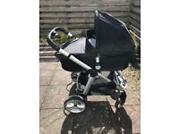 iCandy Apple 2 Pear pram with Maxi Cosi car seat, isofix base and lots of extras!