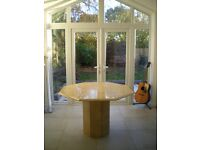 Hexagonal Dining Table 118cms wide