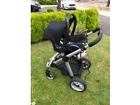 icandy 3in1 pram/stroller/ maxi-cosi car seat