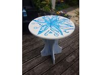 Round table hand painted.