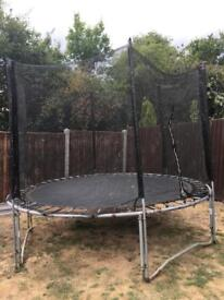 10 ft trampoline with net & surround now collapsed and ready for collection