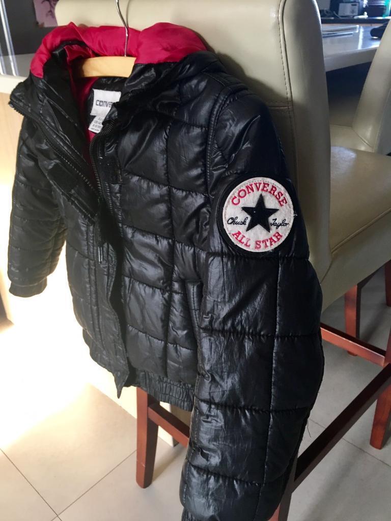 Girls Blsck 'Converse' Jacket