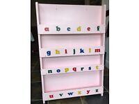 Tidy Books Pink ABC Bookcase