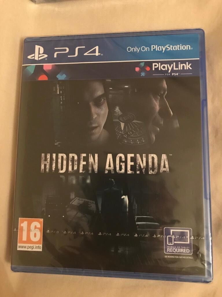 **SEALED** HIDDEN AGENDA PS4 GAME BRAND NEW FOR
