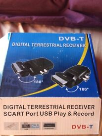 Digital DVB-T Terrestrial Receiver - easily connect your old TV to Freeview!