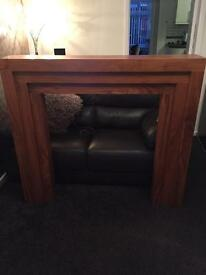 Fire surround / wooden mantle