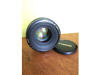 Canon EF 50mm 1:1.4 lens