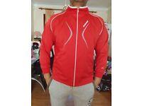 Babolat Club Mens Red Jacket Jersey Tennis Squash Badminton Activewear Sportswear