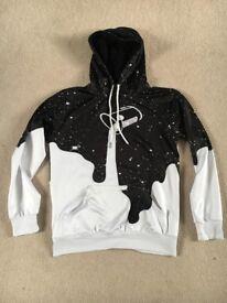 Mens 3D print Dripping Milk space Galaxy hoodie