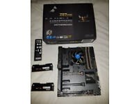 Intel i5-4690K, Asus Sabertooth Z97 Mark 1, 8GB DDR3 RAM