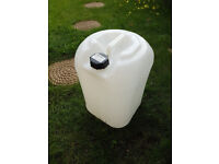 25Litre water container