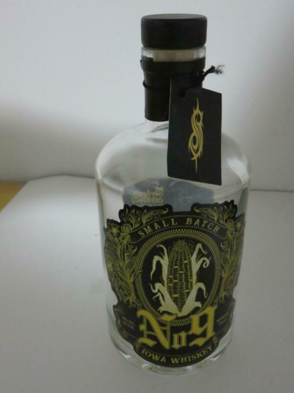 Slipknot Small Batch No.9 Iowa Whiskey Bottle Empty 750ml